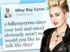 Miley Cyrus reaches out to father Billy Ray on Twitter after mother Tish files for divorce